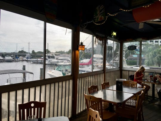 Ichabod's Dockside offers casual dining with a water view.