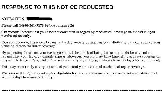 This vehicle insurance scam isn't illegal, just predatory, according to Vermont Scam Watch experts.