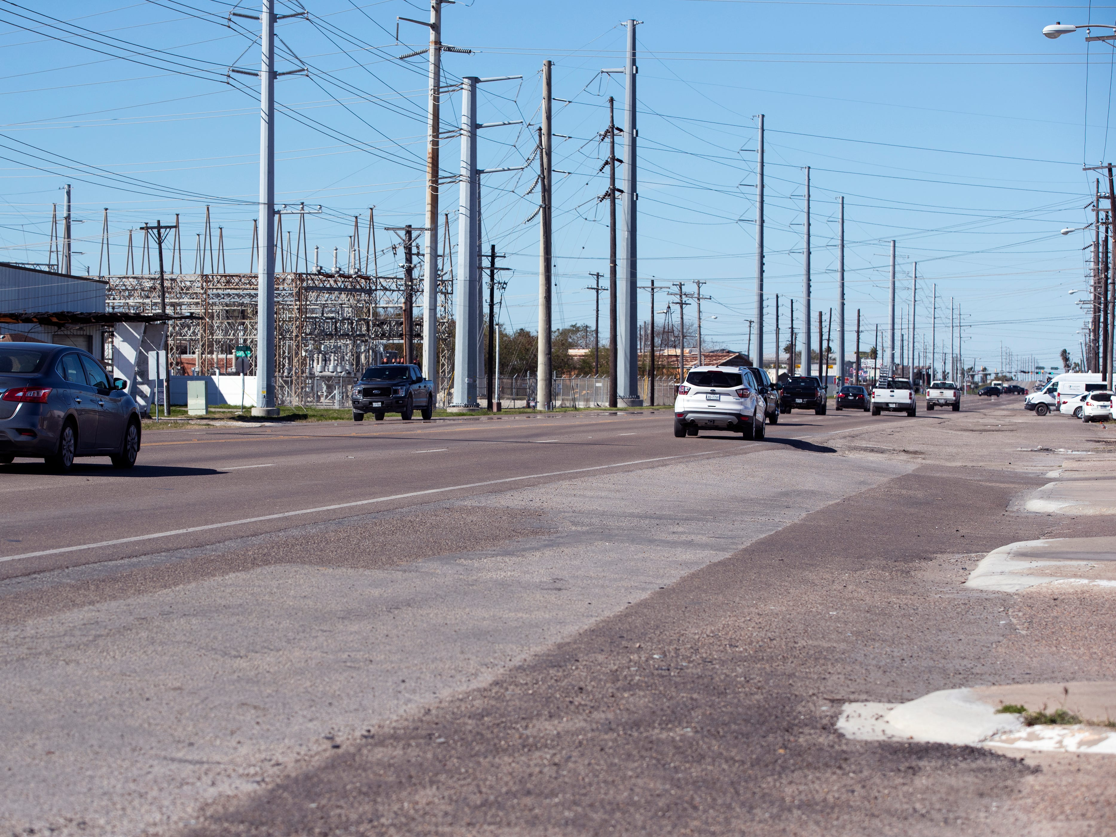 Statistics from the Corpus Christi Police Department show that a high number of auto-pedestrian accidents take place in the 4500 block of Leopard Street. Drivers can be seen on the street on Tuesday, January 29, 2019.