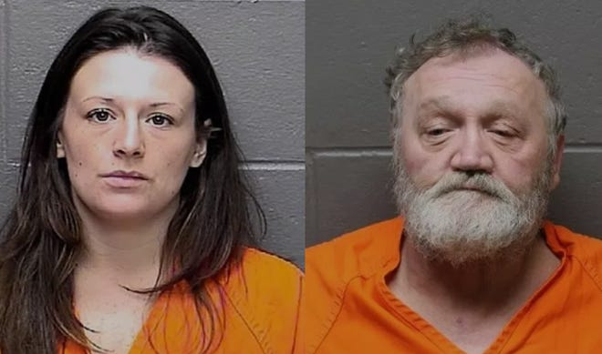 Jessica Paolini of Pennsauken and Gene Restuccio of Hammonton face drug charges after a raid at Restuccio's home.
