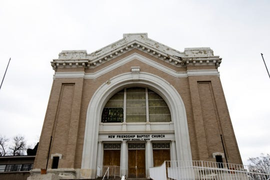 The classical revival house of worship built as a synagogue in 1906-1907 on Reading Road in Avondale is the home of New Friendship Baptist Church since 1969.