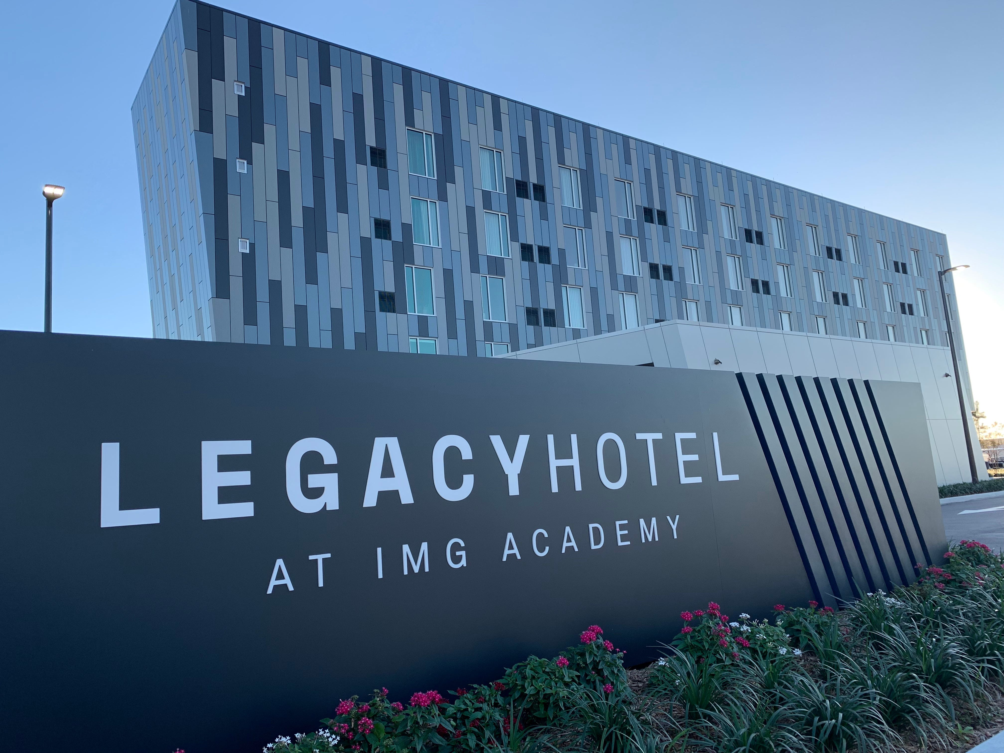 FC Cincinnati's players, coaches, and some members of its staff are lodged at the IMG Academy's Legacy Hotel, which was constructed in 2018 and is a new offering on the property.