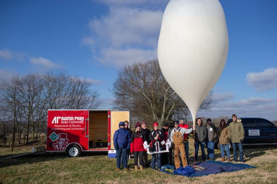 Austin Peay State University and the College of Science, Technology, Engineering and Mathematics celebrated women in STEM by launching a high-altitude balloon on Jan. 24, 2019.
