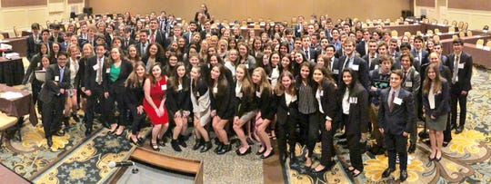 Westfield High School's Model United Nations Club won the Outstanding Delegation Award for excelling in all parts of the annual conference held in Hershey, PA on January 4-6.