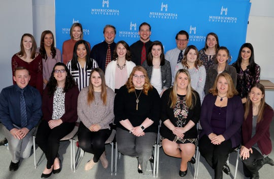 Misericordia University teacher education majors received their student teaching assignments for the spring semester during the student teaching seminar.