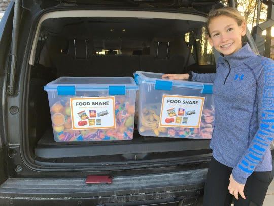 Seventh-grader Taylor Mulligan started a food rescue program at Urbandale's Webster Elementary. The program saves about 100 pounds of fresh food from being dumped into the trash each week. The packaged items and fresh produce are donated to the Urbandale Food Pantry.