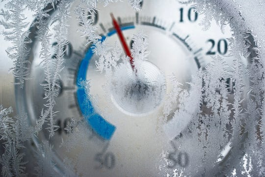 Thermometer in cold weather