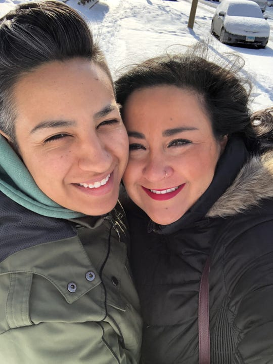 Socorro Garcia, 34, Left, and Melissa Yingst, 40, Right, are threatening to sue Delta Air Lines, claiming a boarding agent discriminated against them by refusing to communicate with them in writing.