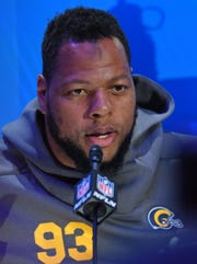 Ndamukong Suh during Opening Night for Super Bowl LIII in Atlanta on Monday.