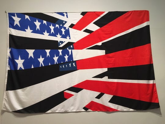 "Gretchen Bender's ""American Flag"" in ""Art in the Age of the Internet"" at UMMA."