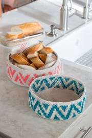 A pattern for Ziggie Baskets are part of Annie's new spring collection.