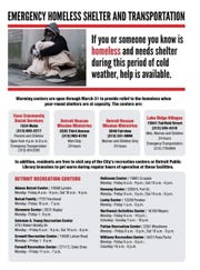 Warming centers are available this week as temperatures and windchill dip into the negatives.