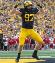 Michigan defensive lineman Aidan Hutchinson hasn't taken well to assistant coach Greg Mattison's departure to rival Ohio State.
