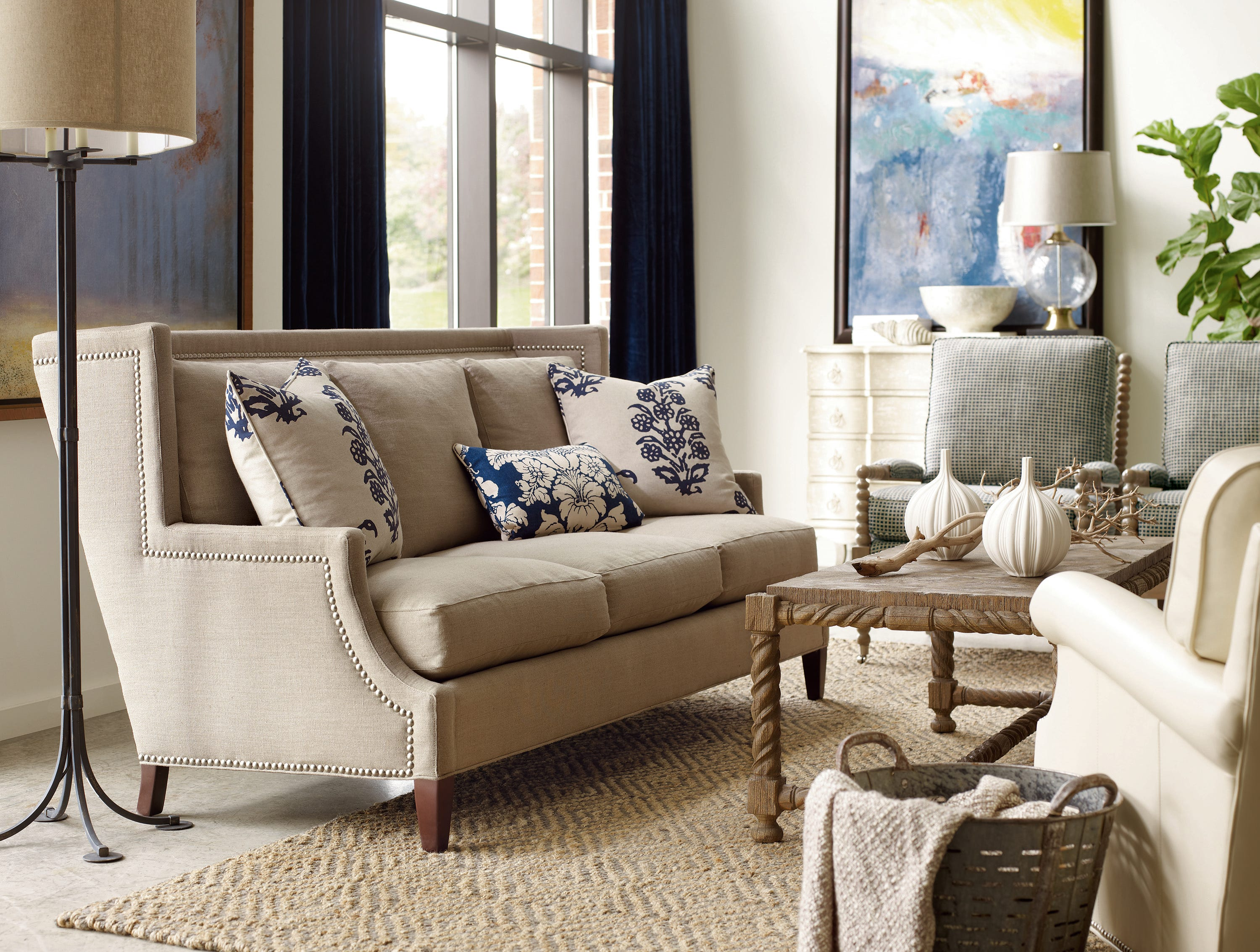 "Sizing up the right sofa: ""Interior designers like to argue about whether it's more important for a sofa to fit the scale of your room or the contours of your body. In my opinion, you need one that does both, because in the long run, you won't be happy with a sofa that isn't the perfect proportion for your room or for your posterior,"" writes Garrity."