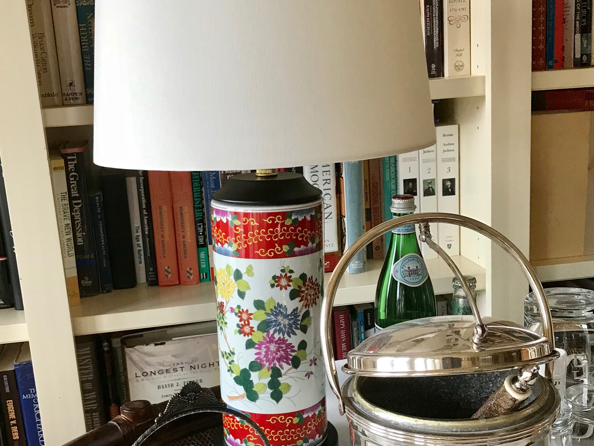 "Picking the right lamp: It's all about scale, writes Garrity. ""For a lamp to work well in your home, it has to be the right scale,"" she writes. ""Don't make the common mistake of picking a lamp that is so little or delicate it will be overpowered by the size of the room and its furnishings. Instead, look for a lamp that's a bit beefier, carrying enough visual weight to hold its own on a sofa table, end table or buffet."""