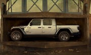 Jeep's ad features the Gladiator midsize pickup truck.