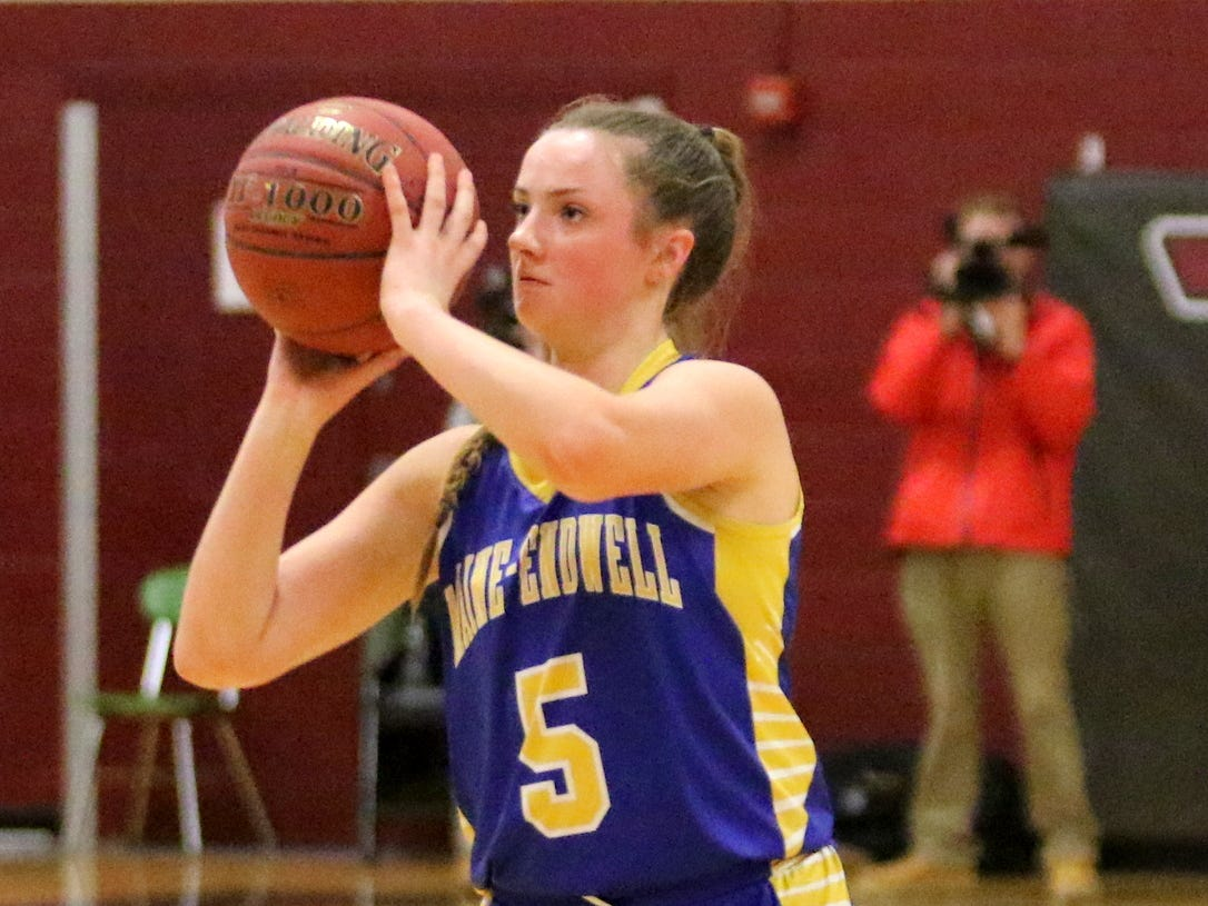 Action from the Elmira girls basketball team's 57-55 win over Maine-Endwell on Jan. 28, 2019 at Elmira High School.