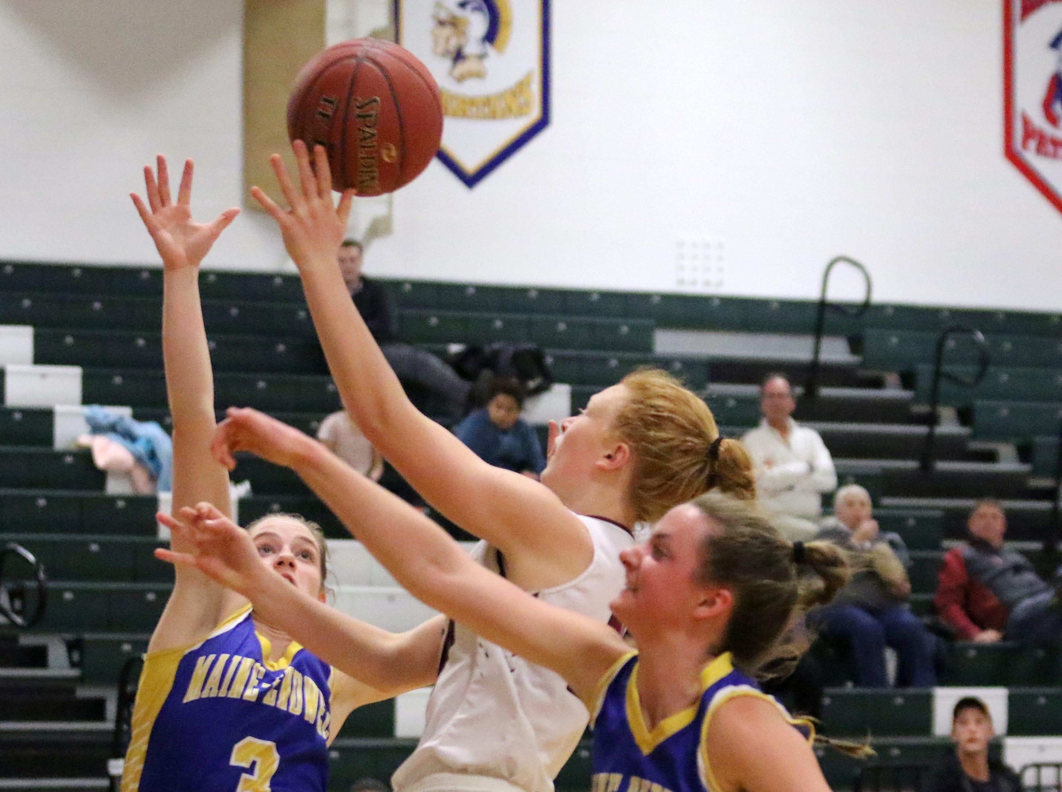 Action from the Elmira girls basketball team's 57-55 win over Maine-Endwell on Jan. 28, 2019 at Elmira High School.