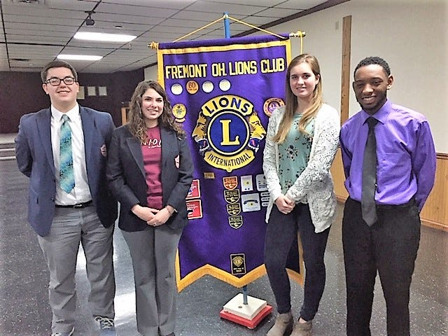 January Students of the Month for the Fremont Lions are left to right Derek Kelbley, Cami Caudill, Molly Mies and KaVon Marton.