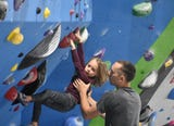 The facility includes more than 20,000 square feet of climbing walls, bouldering, fitness room, yoga studio, retail center and cafe.