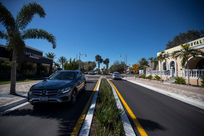 Cape Coral's year-long SE 47th Terrace streetscape construction project is complete. The downtown project spans from Coronado Parkway to SE 15th Avenue and incorporates revamped sidewalks, landscaping and a traffic circle.