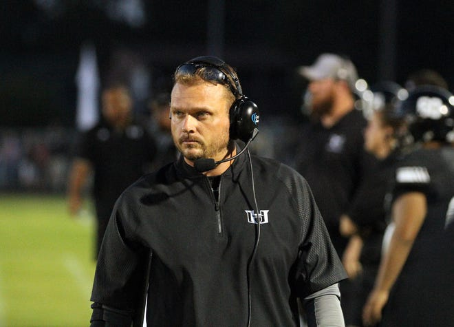 Caleb King, who led Havelock (N.C.) High to a 13-1 record and the state semifinals in 2018, has been hired as football coach at Easley High. (Gray Whitley / Sun Journal)