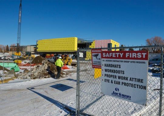 University of Providence's new student center under construction, January 29, 2019.