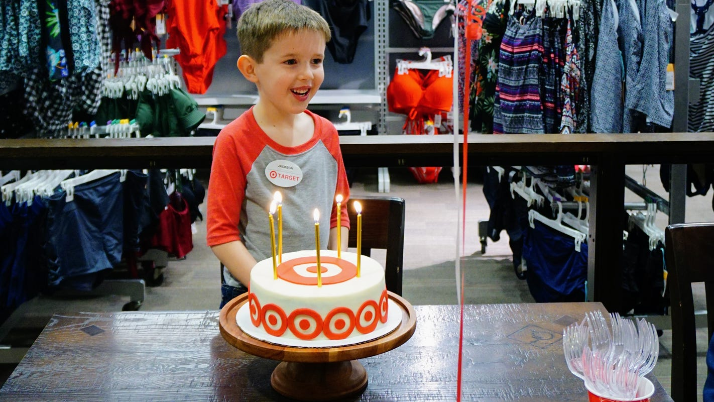 Five Year Olds Birthday On Target With Store Theme