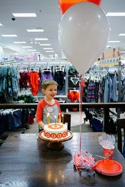 Jackson Duff celebrated his fifth birthday in Target, and the Great Falls store made him his own employee name tag.