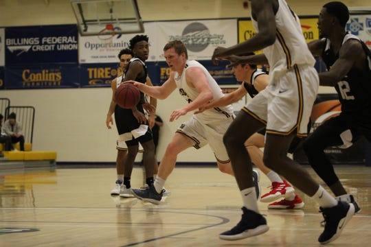 Freshman Brendan Howard is averaging more than 14 points per game for the Montana State Billings Yellowjackets.