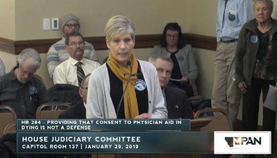Roberta King speaks Tuesday to the House Judiciary Committee.