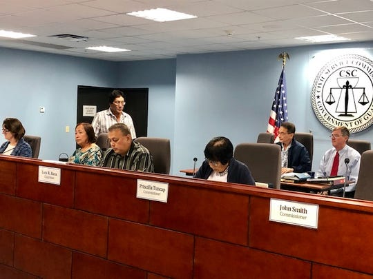 Civil Service Commission Chairman Luis R. Basa and other commissioners on Tuesday night declared moot the complaint against former Guamanians for Fair Government chairman Andri Baynum because he had already resigned from government of Guam employment. Baynum, who until recently was a Simon Sanchez High School teacher, was alleged to have participated in prohibited political activity in violation of Guam's mini Hatch Act.