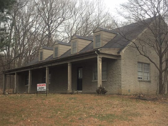The old Kentucky State Police Post out front of Audubon State Park as it stands today, awaiting demolition.