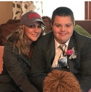 """Marni Brown with her son, Jalen Pigg, said he is a """"light."""""""