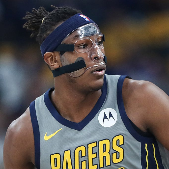 Indiana Pacers center Myles Turner (33) certainly...