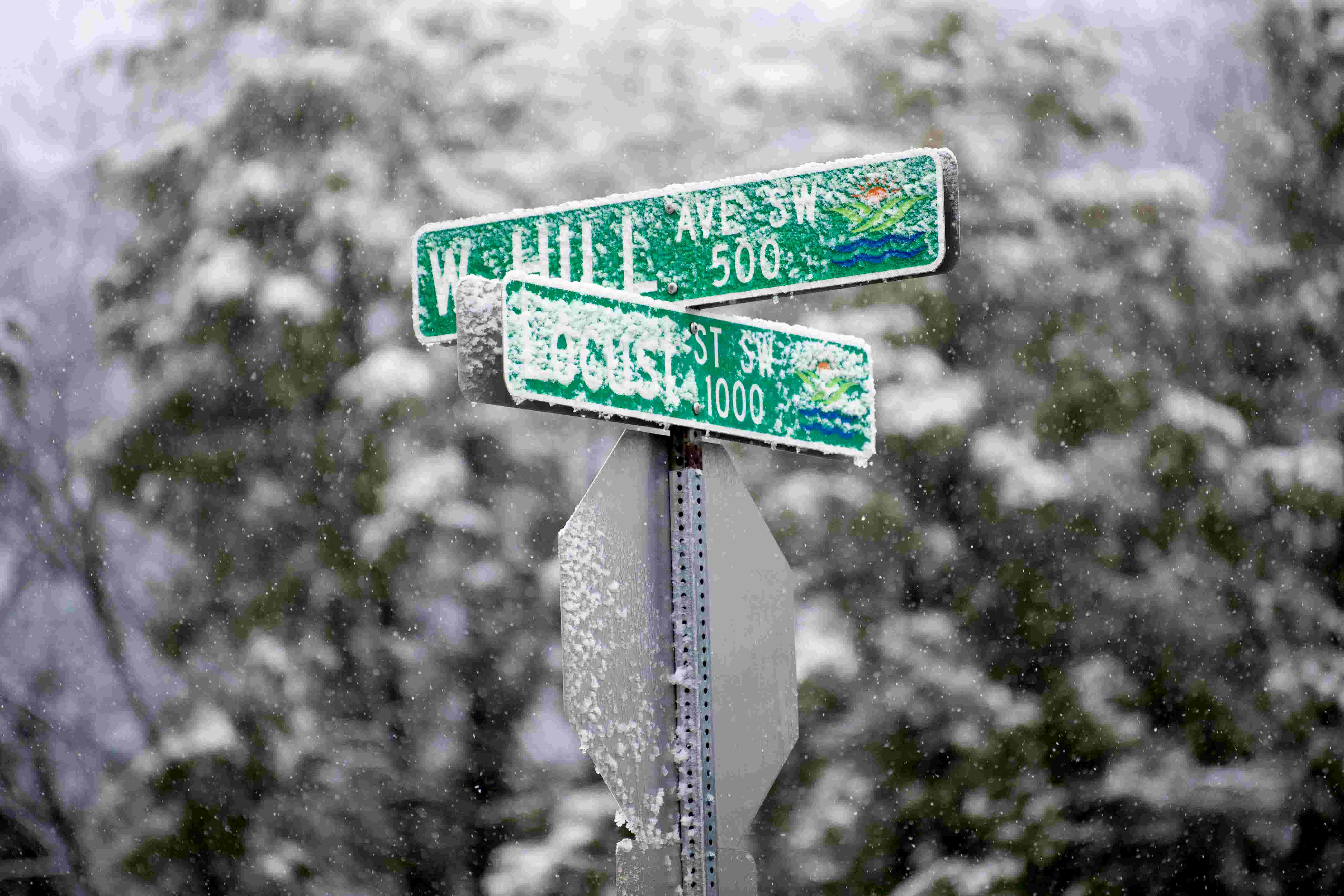 Snow blankets the Knoxville area