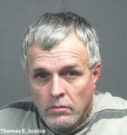 Thomas Justice, 49 of Knoxville, was arrested by the Blount County Sheriff's Office on Tuesday morning on seven outstanding warrants in Knox County.