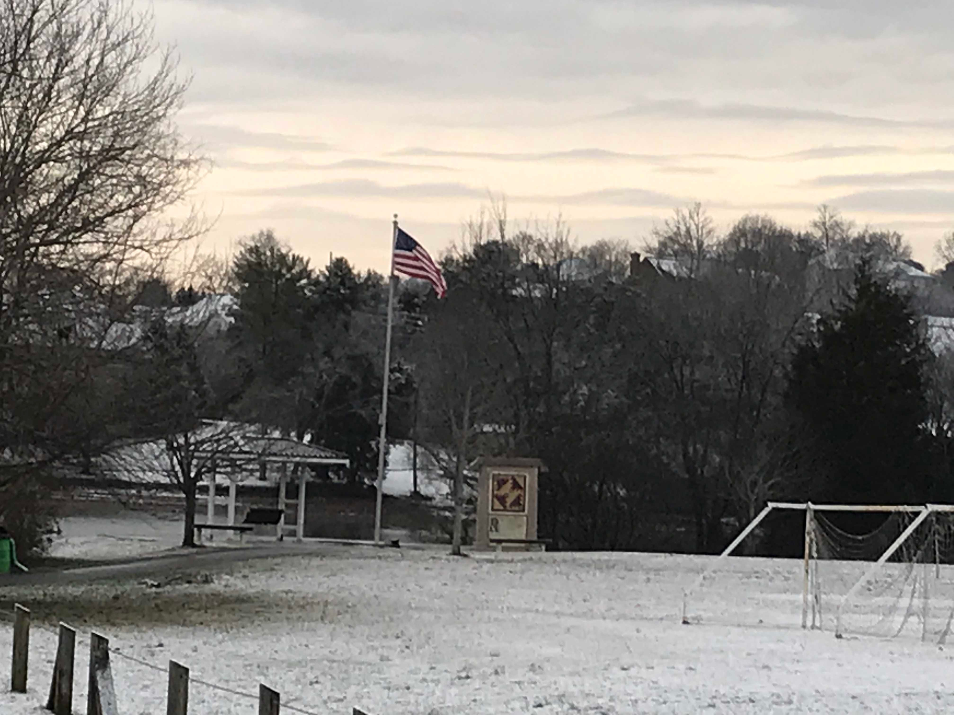 A snow scene at Carl Cowen Park on Tuesday, January 29, 2019.