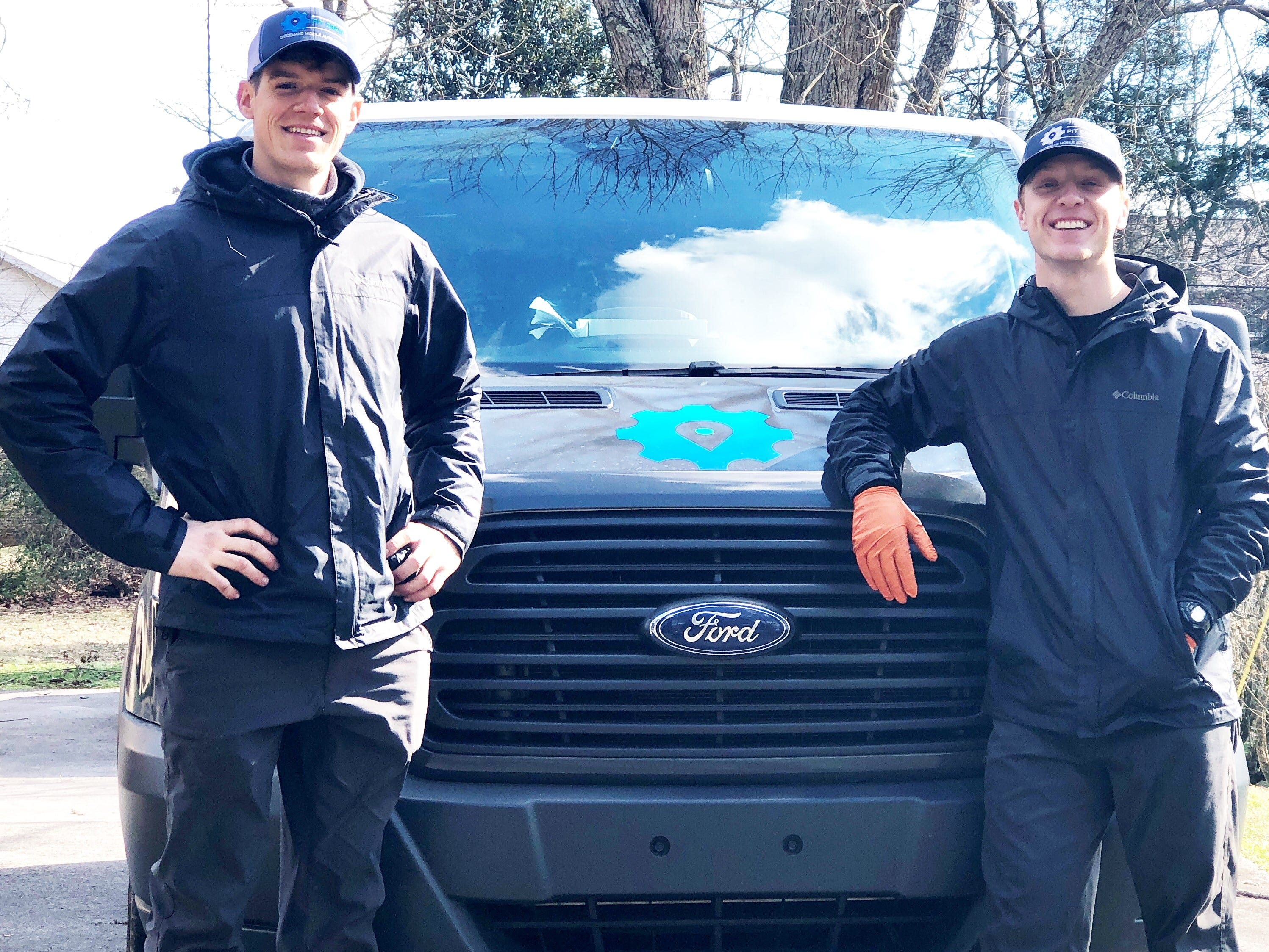 "Our prices are highly competitive for the convenience we offer,"" said Pit Crew's Andrew Dacus, pictured left with Josh Tillery."