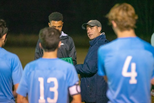 ESA coach J.B. Brunet and his Falcons are trying to complete their second consecutive undefeated season.