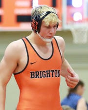 Brighton's Luke Stanton hopes to get to the top of the podium at the state wrestling tournament after placing eighth last season.