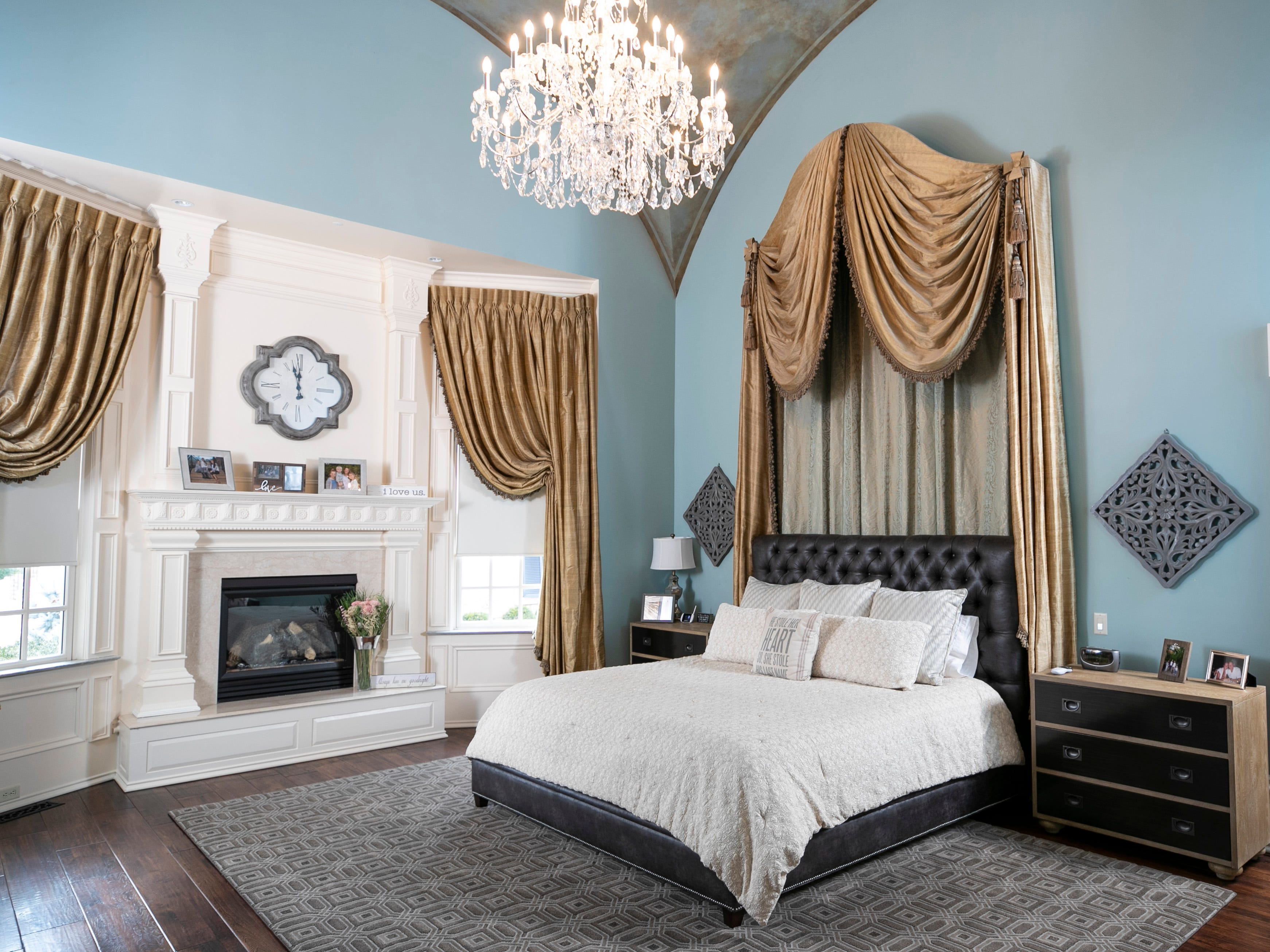 The master bedroom of the Mack home.