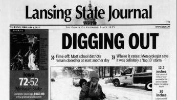 Michigan State University has canceled classes 6 times in its history. See past front pages