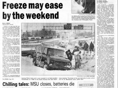 Cold temperatures resulted in classes being suspended when wind chills dipped to 51 degrees below zero on Jan. 19, 1994.