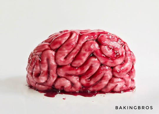 A brain cake from Baking Bros.