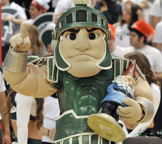 Michigan State University's mascot, Sparty, has entertained fans for decades.