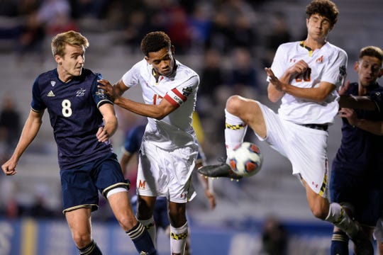Former Akron Zips defender Morgan Hackworth (8) signed with Memphis 901 FC Tuesday.