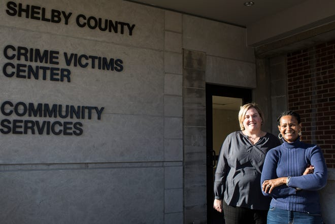 January 29 2019 - Sandy Bromley, agency director, left, and Deborah Davis-Williamson, program manager, at the new location for the Shelby County Crime Victims and Rape Crisis Center at 1060 Madison Avenue.