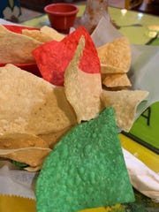 Colorful chips and salsa from Mr. Tequila.