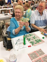 Dorothy Southwick of New Jersey was the big jackpot winner at the Jan. 24 Knights of Columbus San Marco Council #6344 Bingo fundraiser.